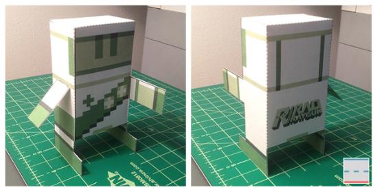 Rad Raygun Paper Foldable